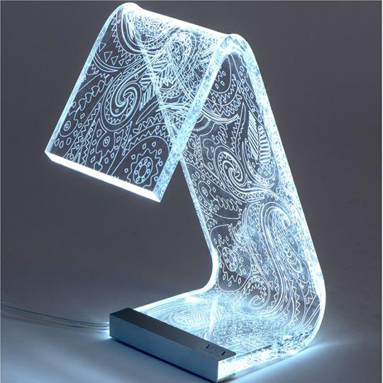 Lampada da tavolo c-led retro Grande