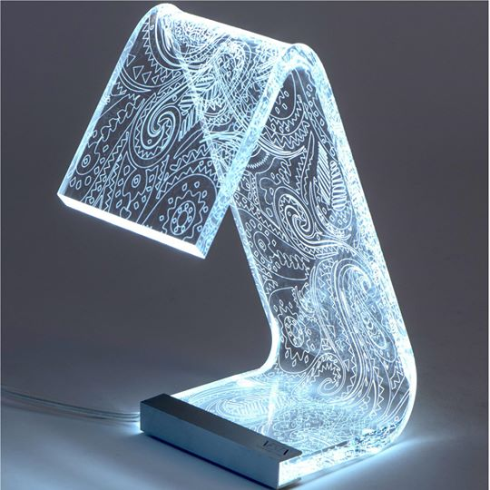 Lampada da tavolo c-led retro Piccola