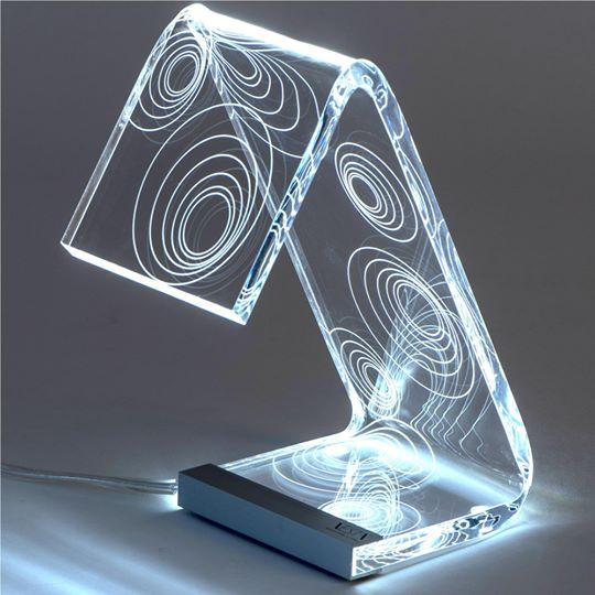 Lampada da tavolo c-led bubbles piccola