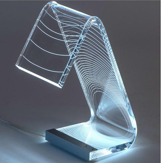 Lampada da tavolo c-led eclisse Piccola
