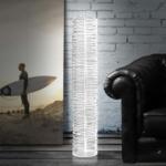 Lampada da Terra grande Half in Cristallo acrilico Vesta
