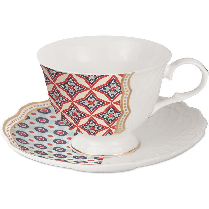 Baci Milano set 2 tazzine caffè in porcellana royal mix nets