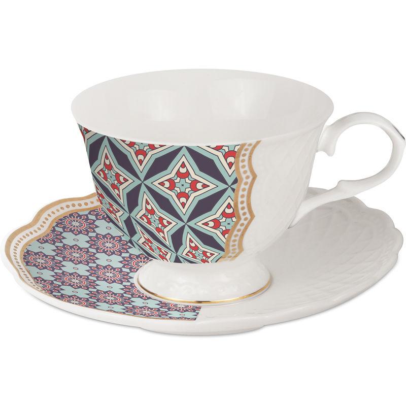 Baci Milano set 2 tazzine da thè in porcellana royal mix nets