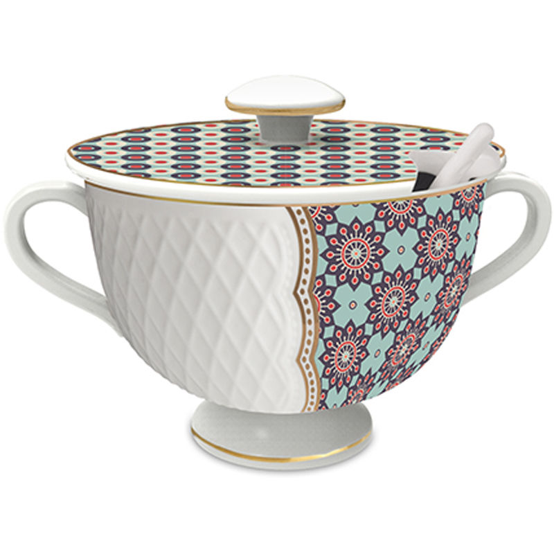 Baci Milano zuccheriera in porcellana royal mix nets